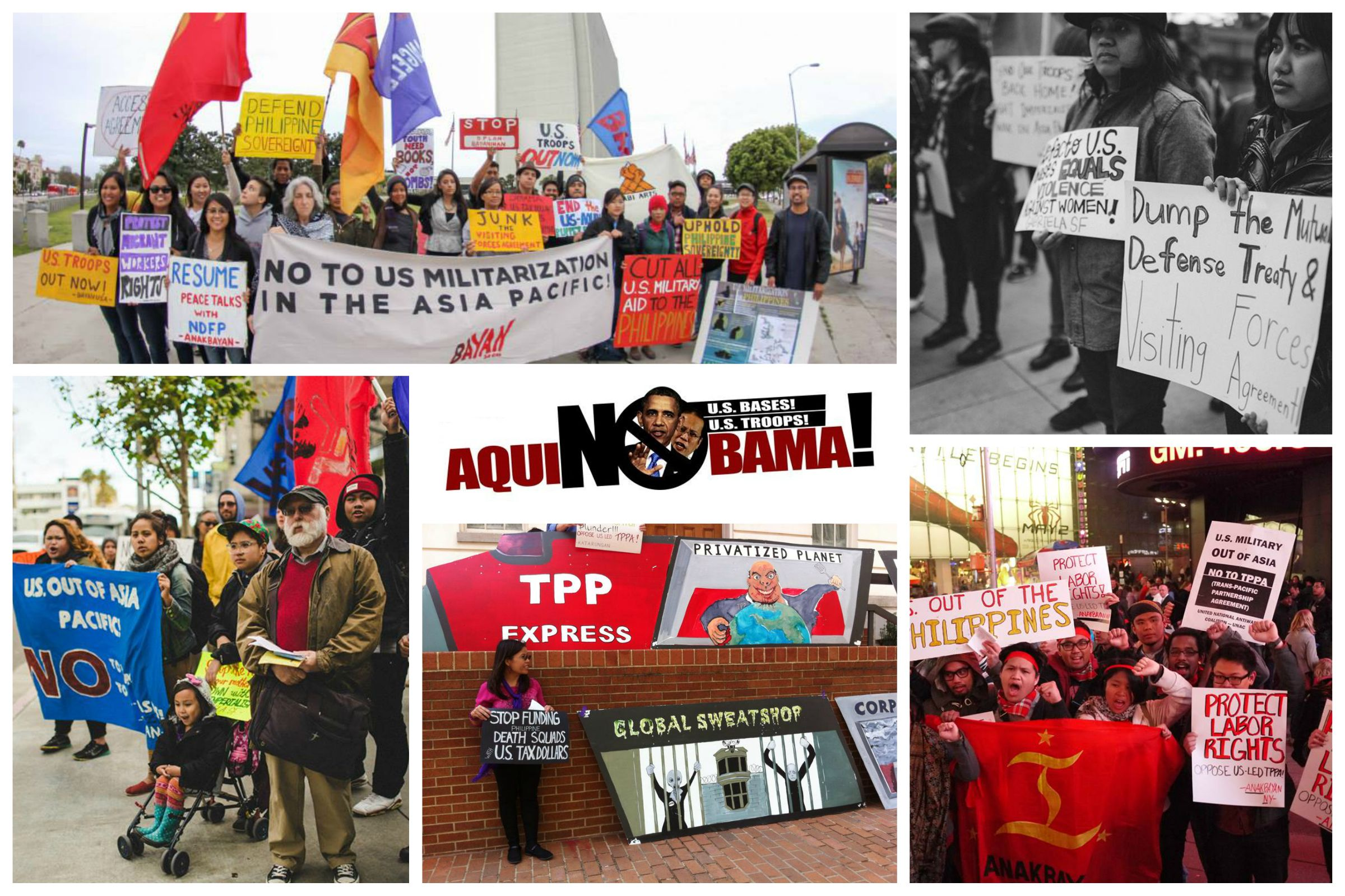 Actions across the US against US visit to Asia Pacific!