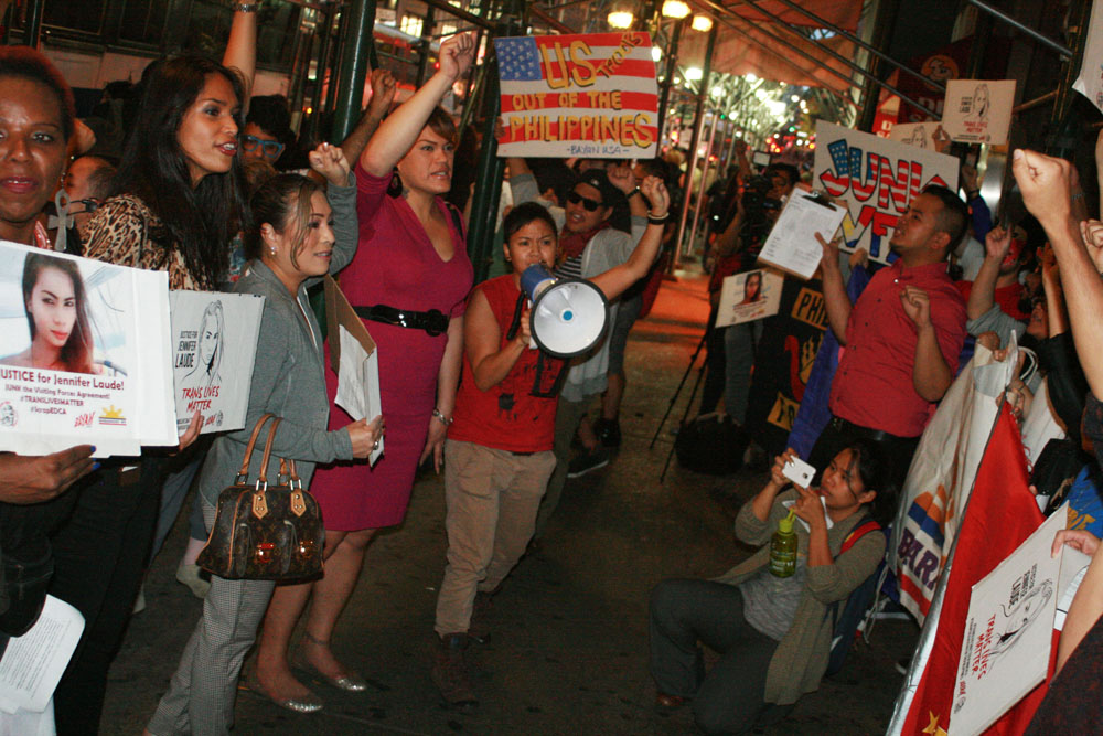 Protest for Jennifer Laude, NYC, 10/15/14