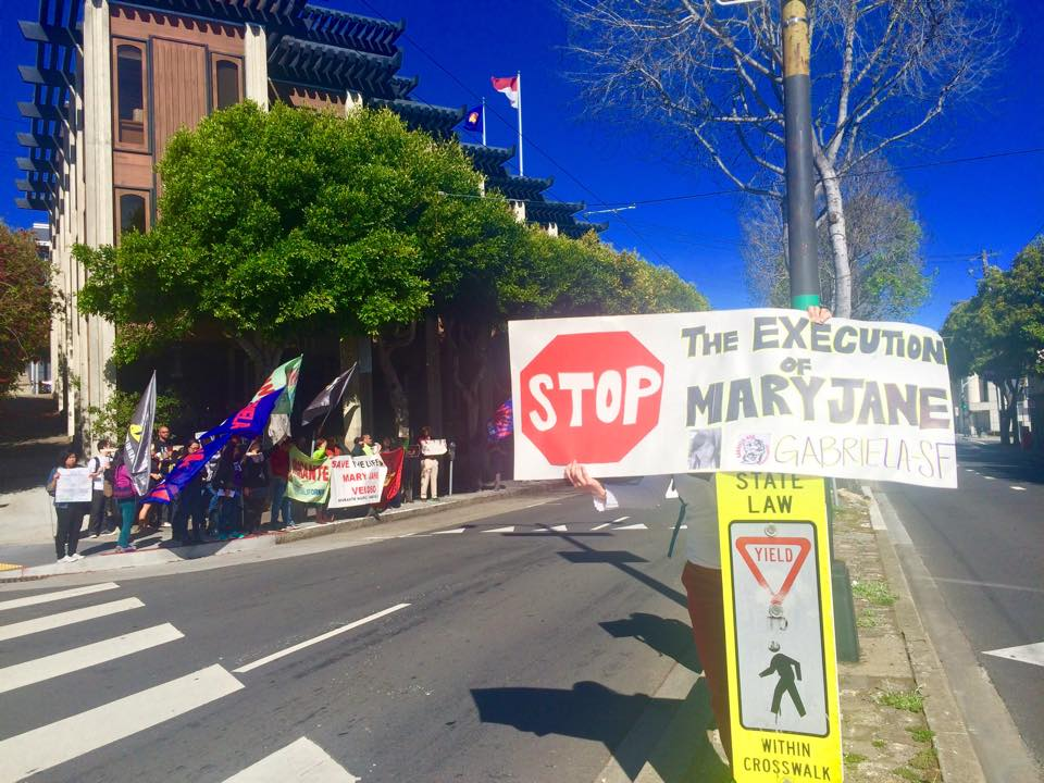BAYAN USA Action across from the Indonesian Consulate in San Francisco. Photo credit: Gabriela San Francisco