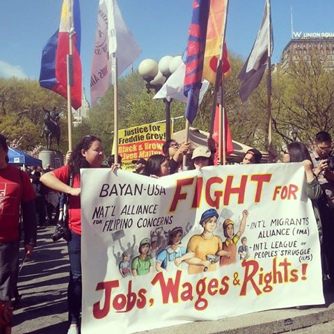MAY DAY Rally in New York. photo credit by Bernadette Ellorin